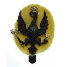 14th/20th King's Hussars Black Anodised (Staybrite) Cap Badge