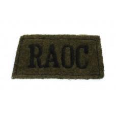 Royal Army Ordnance Corps (R.A.O.C.) WW2 Cloth Slip On Shoulder Title