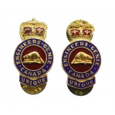 Pair of Canadian Forces Military Engineers Collar Badges