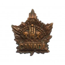 Canadian WWI General Service Collar Badge (Caron Bros 1915)