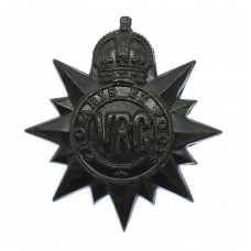 Canadian Victoria Rifles of Canada Cap Badge - King's Crown