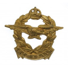 South African Air Force (S.A.A.F. - S.A.L.M.) Collar Badge - King's Crown
