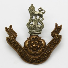 Rossall School C.C.F. Cap Badge - King's Crown