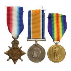 WW1 1914-15 Star Medal Trio - Pte. W.E. Eggatt, York & Lancas