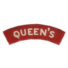Queen's Royal West Surrey Regiment (QUEEN'S) WW2 Painted Shoulder Title