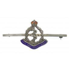 Royal Army Medical Corps (R.A.M.C.) Silver & Enamel Sweetheart Brooch