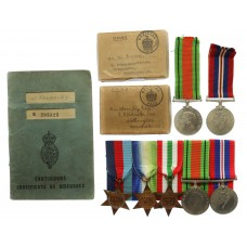WW2 Merchant Navy Medal Group of Five with Fathers Defence &