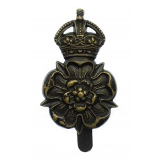 Yorkshire Dragoons Blackened Brass Cap Badge - King's Crown