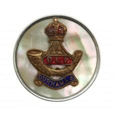 Durham Light Infantry (D.L.I.) Mother of Pearl & Silver Rim S