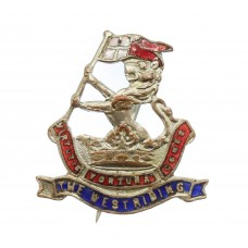 West Riding Regiment (Duke of Wellington's) Enamelled Sweetheart