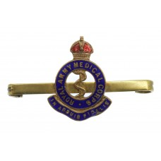 Royal Army Medical Corps (R.A.M.C.) Brass & Enamel Sweetheart