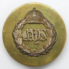 2nd Dragoon Guards (The Boys) Officer's Horse Furniture Bridle Strap Badge - King's Crown