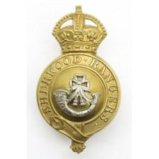 Sherwood Rangers Yeomanry Officer's Horse Furniture Bit Boss Badge - King's Crown