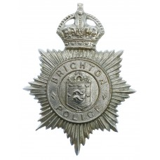 Brighton Borough Police Helmet Plate - King's Crown