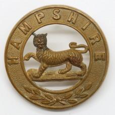 Hampshire Regiment Helmet Plate Centre