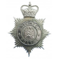 Brighton Borough Police Helmet Plate - Queen's Crown