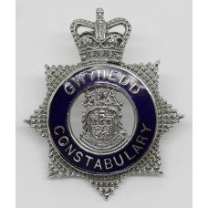 Gwynedd Constabulary Senior Officer's Enamelled Cap Badge - Queen