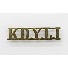 King's Own Yorkshire Light Infantry (K.O.Y.L.I.) Shoulder Title