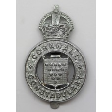 Cornwall  Constabulary Cap Badge - King's Crown