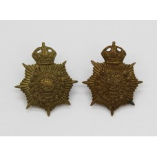 Pair of Army Service Corps (A.S.C.) Collar Badges - King's Crown