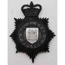 Doncaster Borough Police Night Helmet Plate - Queen's Crown