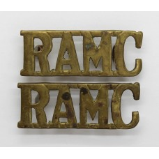 Pair of Royal Army Medical Corps (R.A.M.C.) Shoulder Titles