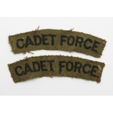 Pair of WW2 Army Cadet Force (CADET FORCE)  Cloth Shoulder Titles