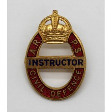 WW2 Air Raid Precaution School (A.R.P.S.) Civil Defence Instructor Badge
