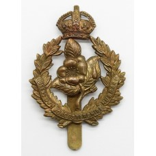 Queen's Own Worcestershire Hussars All Brass Cap Badge - King's Crown