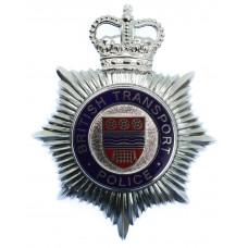 British Transport Police (B.T.P.) Enamelled Helmet Plate - Queen'