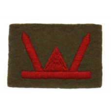 53rd (Welch) Division Cloth Formation Sign