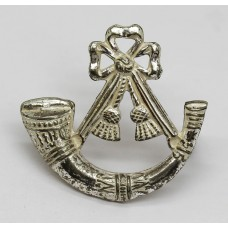Light Infantry Officer's Silver Plated Cap Badge