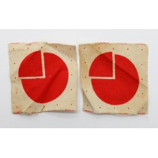 Pair of 4th Infantry Division Printed Formation Signs (2nd Pattern)