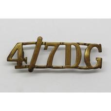 4th/7th Dragoon Guards (4/7DG) Shoulder Title