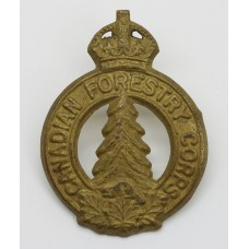 Canadian Forestry Corps Cap Badge - King's Crown