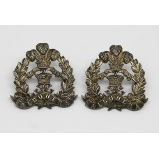 Middlesex Regiment Officer's Silver Collar Badges