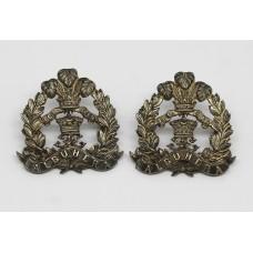 Middlesex Regiment Officer's Silver Collar Badges