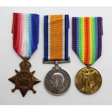 WW1 1914-15 Star Medal Trio - Cpl. F. Beardmore, 21st (6th City Pals) Bn. Manchester Regiment - Wounded