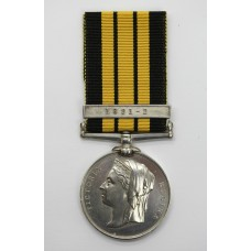 East and West Africa Medal (Clasp - 1891-2) - T. Channing, Lg. Shipt., Royal Navy, H.M.S. Racer