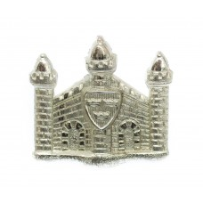 Cambridgeshire Regiment Officer's Silvered Collar Badge