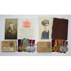 WW2 Air Crew Europe Casualty Medal Group & Devonshire Regiment Officer's Medal Group to the Griffiths-Buchanan Brothers