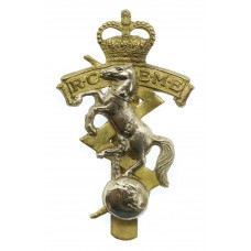 Royal Canadian Electrical & Mechanical Engineers (R.C.E.M.E.) Cap Badge - Queen's Crown