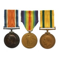 WW1 British War, Victory & Territorial Force War Medal Group