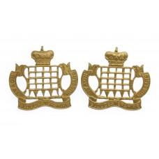 Pair of Royal Gloucestershire Hussars Collar Badges