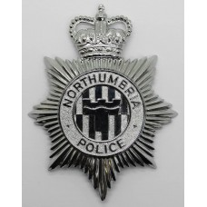Northumbria Police Helmet Plate - Queen's Crown