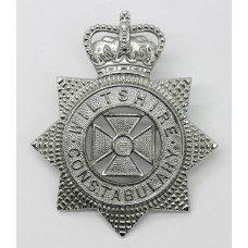 Wiltshire Constabulary Helmet Plate - Queen's Crown (Small Star)