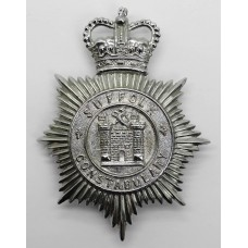 Suffolk Constabulary Helmet Plate - Queen's Crown