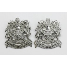 Pair of Monmouthshire Constabulary Collar Badges