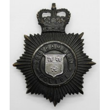 Southampton Police Night Helmet Plate - Queen's Crown