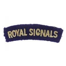 Royal Signals (ROYAL SIGNALS) Cloth Shoulder Title